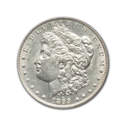 1893CC Morgan Silver Dollar in Fine Condition (F15) Graded by AACGS