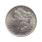 1894S Morgan Silver Dollar in Fine Condition (F15) Graded by AACGS