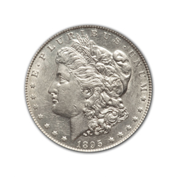 1895O Morgan Silver Dollar in Fine Condition (F15) Graded by AACGS