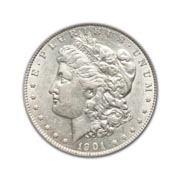 1901P Morgan Silver Dollar in Fine Condition (F15) Graded by AACGS