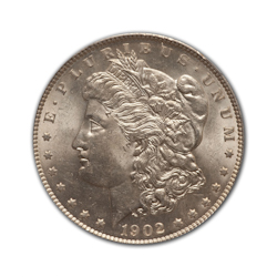 1902O Morgan Silver Dollar in Fine Condition (F15) Graded by AACGS