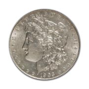 1903S Morgan Silver Dollar in Fine Condition (F15) Graded by AACGS