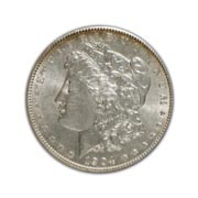 1904P Morgan Silver Dollar in Fine Condition (F15) Graded by AACGS