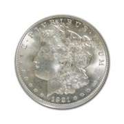 1921P Morgan Silver Dollar in Fine Condition (F15) Graded by AACGS