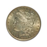 1882P Morgan Silver Dollar in Uncirculated Condition (MS62) Graded by AACGS
