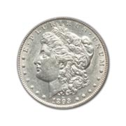 1893cc Morgan Silver Dollar in Uncirculated Condition (MS62) Graded by AACGS