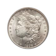 1898P Morgan Silver Dollar in Uncirculated Condition (MS62) Graded by AACGS