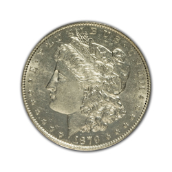 1879O Morgan Silver Dollar in Extra Fine Condition (XF40) Graded by AACGS