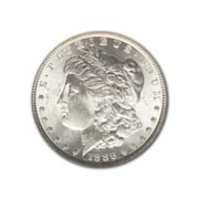 1886P Morgan Silver Dollar in Extra Fine Condition (XF40) Graded by AACGS