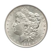 1892CC Morgan Silver Dollar in Extra Fine Condition (XF40) Graded by AACGS