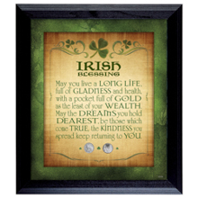 Irish Blessing with 2 Three Pence Wall Frame