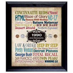 Personalized-A Year In Time Celebration Wall Frame Collection