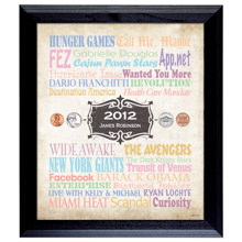 Personalized Baby-A Year In Time Celebration Wall Frame Collection