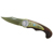 Buffalo Nickel Decorative Wood Handle Knife