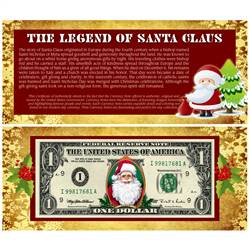 The Legend of Santa Claus $1 Bill
