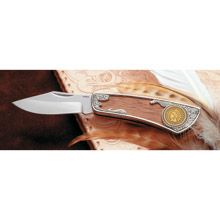 100?Year Old Gold Layered Indian Cent Pocket Knife