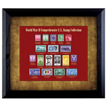 World War II Stamp Framed Collection