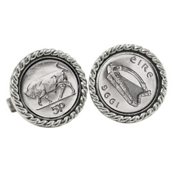 Irish Bull 5 Pence Cuff Links
