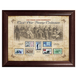 150 Year Anniversary Civil War Stamp Collection - Framed