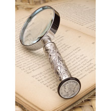 Silver Mercury Dime Magnifying Glass