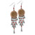 Coppertone Indian Head Cent Chandelier Earrings