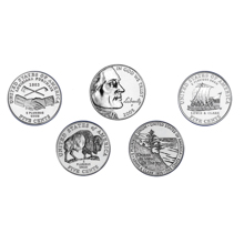 2004-2005 Brilliant Uncirculated Westward Journey Nickel Collection