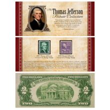 The Jefferson Tribute Collection with Rare $2 Bill