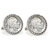 1913 First-Year-of-Issue Buffalo Nickel Silvertone Rope Bezel Cuff Links