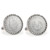 1800's Liberty Nickel Silvertone Rope Bezel Cuff Links