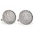 1883 First-Year-of-Issue Liberty Nickel Silvertone Rope Bezel Cuff Links