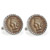 1859 First-Year-of-Issue Indian Head Penny Silvertone Rope Bezel Cuff Links
