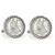 Seated Liberty Silver Dime Silvertone Rope Bezel Cuff Links