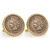 1800's Indian Head Penny Goldtone Rope Bezel Cuff Links