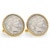Silver Barber Dime Goldtone Rope Bezel Cuff Links