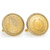 Gold-Layered 1800's Liberty Nickel Goldtone Rope Bezel Cuff Links
