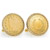 Gold-Layered 1883 First-Year-of-Issue Liberty Nickel Goldtone Rope Bezel Cuff Links