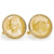 Gold-Layered Silver Jefferson Nickel Wartime Nickel Goldtone Rope Bezel Cuff Links
