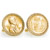 Gold-Layered Lincoln Wheat-Ear Penny Cuff Goldtone Rope Bezel Cuff Links