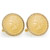 Gold-Layered Indian Head Penny Goldtone Rope Bezel Cuff Links
