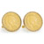 Gold-Layered 1800's Indian Head Penny Goldtone Rope Bezel Cuff Links