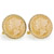 Gold-Layered Silver Mercury Dime Goldtone Rope Bezel Cuff Links