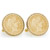 Gold-Layered Silver Barber Dime Goldtone Rope Bezel Cuff Links