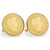 Gold-Layered 1800's Silver Barber Dime Goldtone Rope Bezel Cuff Links