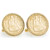 Gold-Layered Seated Liberty Silver Dime Goldtone Rope Bezel Cuff Links