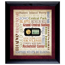 Liberty Lives in New York City Wall Frame with Coin and Stamp