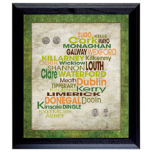 Luck of the Irish Wall Frame with Coins