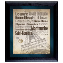 Paris The City of Lights Wall Frame with Coins