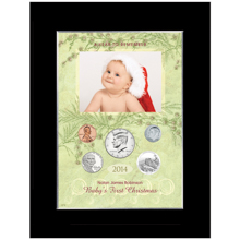 Baby's First Christmas Year To Remember Personalized Photo Frame