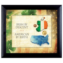 Irish By Descent Wall Frame