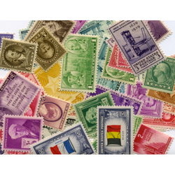 40 U.S. Postage Stamps from the 1910's, 1920's, 1930's & 1940's